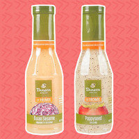 Panera at Home Salad Dressings: Poppyseed, Thai Chili Lime Vinaigrette, Asian Sesame Vinaigrette, and Tangerine Honey