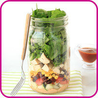 Swaps for Food Fakers: BBQ Ranch Chicken Salad in a Jar