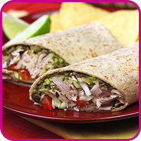 Swaps for Food Fakers: Spicy Black Bean & Avocado Turkey Wrap