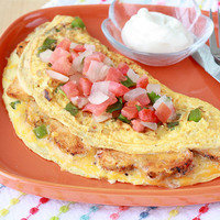 Healthy Hungry Girl Protein-Packed Recipes: Loaded Chicken Fajita Omelette