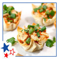Healthy Hungry Girl Memorial Day Recipes: Thai Oh My Chicken Wonton Cups
