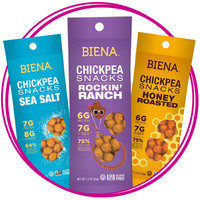 On-the-Go Snack: Biena Chickpea Snack Packs