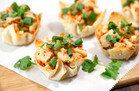 Healthy Hungry Girl Low-Sugar Recipes: Thai Oh My Chicken Wonton Cups