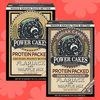 Kodiak Cakes Protein Packed Power Cakes Flapjack and Waffle Mix in Crunchy Peanut Butter and Dark Chocolate