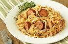 Turnip Noodles & Chicken Sausage