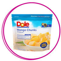 Hungry Girl Smoothie Ingredients: Frozen mango chunks