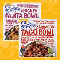 Frontera Gourmet Mexican Cuisine Frozen Bowls in Chicken Fajita and Barbacoa Taco