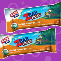 Clif Kid Organic ZBar Filled in Double Peanut Butter