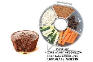 4 veggie packed treats bonus recipe hungry girl - Garden lites blueberry oat muffins ...