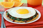 Cheesy Spinach Breakfast Tostada