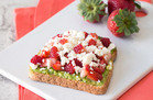 Strawberry-Feta Avocado Toast