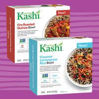 New Kashi Bowls: Coconut Lemongrass Rice, Fire Roasted Quinoa, Pesto Chickpea Quinoa, and Creamy Cashew Noodle