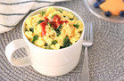 5-Ingredient-or-Less Meals in 30 Minutes Max: Kale & Sriracha Fluffy Egg Mug