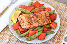 5-Ingredient-or-Less Meals in 30 Minutes Max: Balsamic Honey Salmon 'n Veggies
