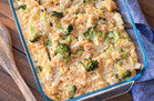 Cheesy Chicken Broccoli & Cauliflower Rice Casserole