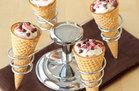 Candy Cane Cannoli Cones