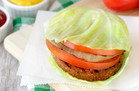 Hungry Girl Veggie Swap: Ginormous Cabbage-Wrapped Burger Stack