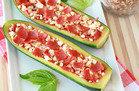 Hungry Girl Veggie Swap: Zucchini Pizza Boats