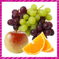 Lisa's Kitchen Staples: Fresh Fruit (Fuji Apples, Grapes, and Oranges)