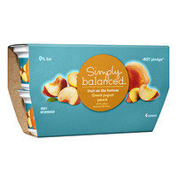 HG's Healthy Target Finds: Simply Balanced Fruit on the Bottom Greek Yogurt in Blueberry, Peach, and Strawberry Banana