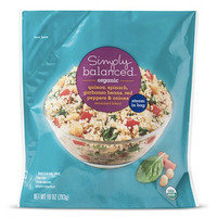 HG's Healthy Target Finds: Simply Balanced Organic Quinoa, Spinach, Garbanzo Beans, Red Peppers & Onions
