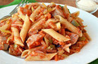 Healthy Foods That Supersize: Chicken-Sausage Pasta