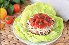 Veggie-Based Carb Swap: Saucy Italian Burger on a Lettuce Bun