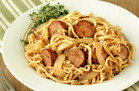 Veggie-Based Carb Swap: Turnip Noodles & Chicken Sausage