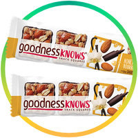 Goodness Knows Snack Squares in Honey Almond Bourbon Vanilla