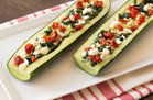 Supersized Snack: Spinach Feta Stuffed Zucchini