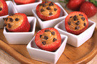 Supersized Snack: Chocolate & PB Stuffed Strawberries