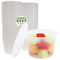 Healthy Cooking Kitchen Essentials: Freshware 36-Pack 16 oz. Plastic Food Storage Containers with Airtight Lids