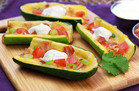 Healthy Cheesy Zucchini Skins Recipe