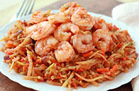 Hungry Girl's Healthy Shrimp 'n Slaw Marinara Recipe