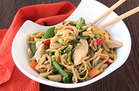 Zucchini Lo Mein with Chicken
