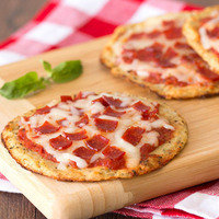 Hungry Girl's Healthy Cutie-Pie Cauliflower-Crust Pepperoni Pizzas Recipe