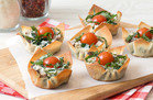 Hungry Girl's Healthy White Pizza Wonton Crunchers Recipe