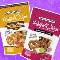 Snack Factory Deli Style Pretzel Crisps in Sourdough Original & Cinnamon Sugar