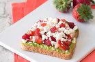 Hungry Girl's Healthy Strawberry-Feta Avocado Toast Recipe