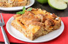 Apple-Sausage Strata