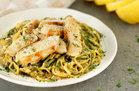 Hungry Girl's Healthy Chicken Scampi Z'paghetti Recipe