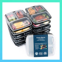Go-To Kitchen Gadgets: Green Bento 3 Compartment Food Containers with Lids
