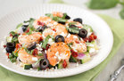 Hungry Girl's Healthy Mediterranean Shrimp 'n Veggies Recipe