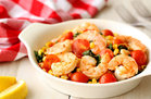 Hungry Girl's Healthy Mediterranean Shrimp & Veggies Recipe