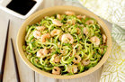 Hungry Girl's Healthy Spiralized Sunomono Salad 'n Shrimp Recipe