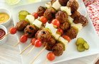 Hungry Girl's Healthy Bunless Turkey Burger Kebabs Recipe