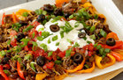 Hungry Girl's Healthy Loaded Bell Pepper Nachos Recipe