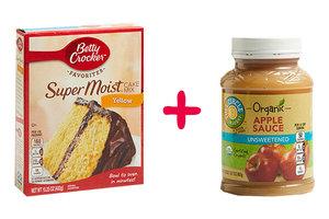 Cake Mix + Applesauce