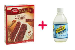 Cake Mix + Club Soda