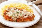 Buffalo Chicken Parm with Spaghetti Squash
